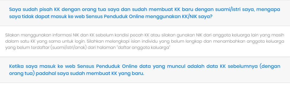 Sensus Penduduk Online 2020 : Mengatasi Error NIK atau Nomor KK Anda tidak sesuai - kode : 104