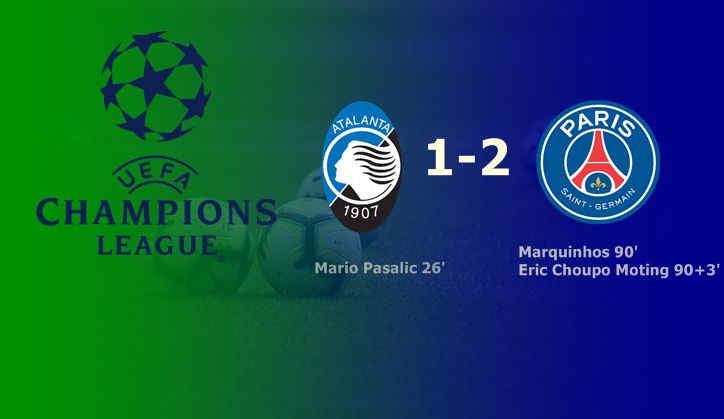 Hasil Atalanta vs PSG Liga Champions
