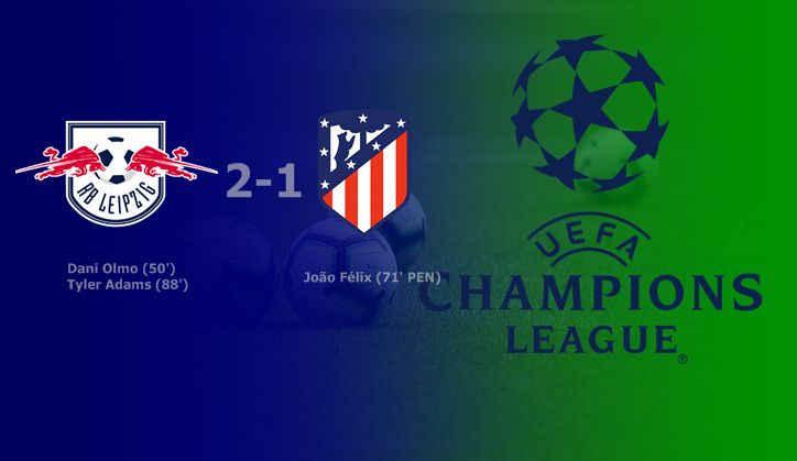 Hasil RB Leipzig vs Atletico Madrid Skor Akhir 2-1