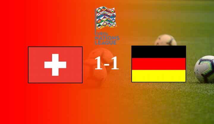 Hasil Swiss vs Jerman Matchday 2 UNL Skor Akhir 1-1