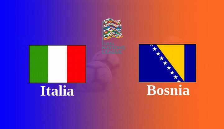 Hasil Italia vs Bosnia UEFA Nations League 2020/21