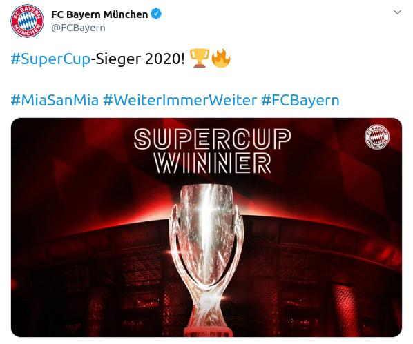 Munchen Juara Super UEFA 2020