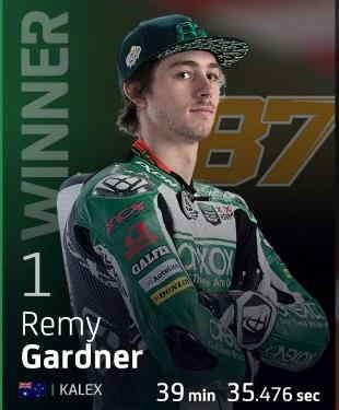 Remy Gardner Podium di Portugal 2020