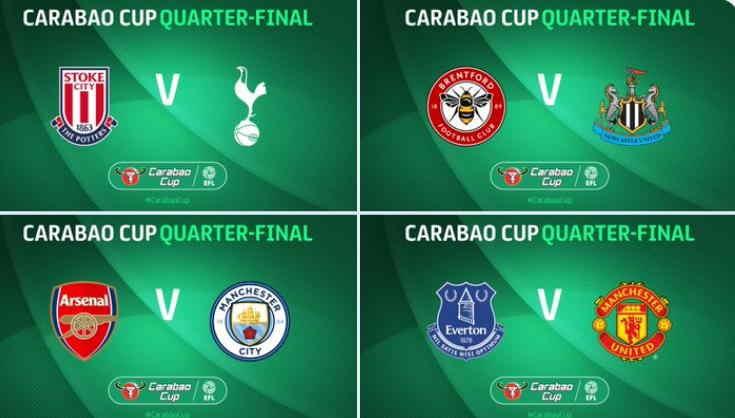 Hasil Drawing Carabao Cup 2020 Babak Perempat Final