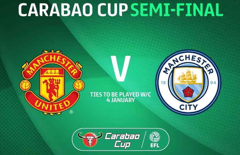 MU vs City Semifinal Carabao Cup
