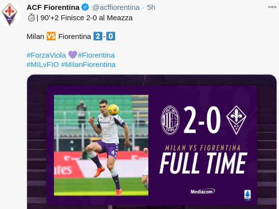 AC Milan 2-0 Fiorentina