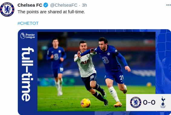 Chelsea 0-0 Spurs