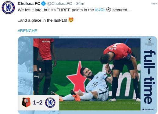 Hasil Rennes vs Chelsea Tadi Malam