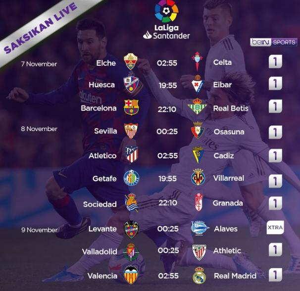 Jadwal La Liga Malam ini Lengkap Pekan 9 Big Match ...