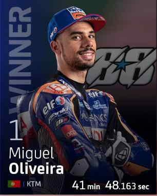 Miguel Oliveira Podium di GP Pportugal 2020