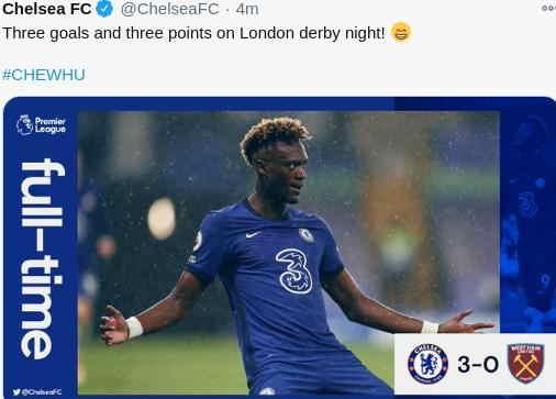 Hasil Chelsea vs West ham United