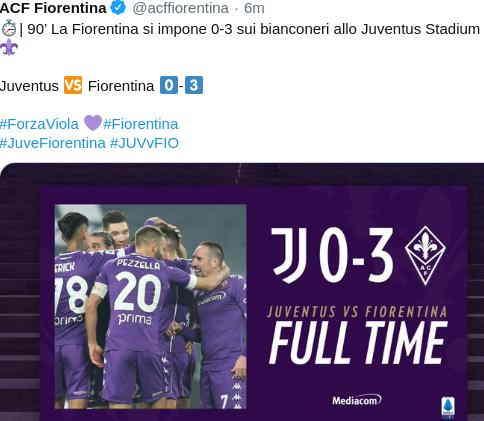 Hasil Juventus vs Fiorentina