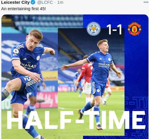 Hasil Leicester City vs Manchester United Malam Ini