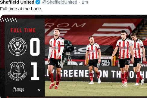 Hasil Sheffield United vs Everton Skor Akhir 0-1