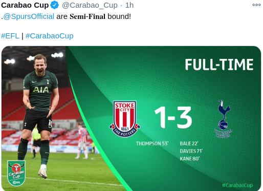 Hasil Stoke City vs Tottenham