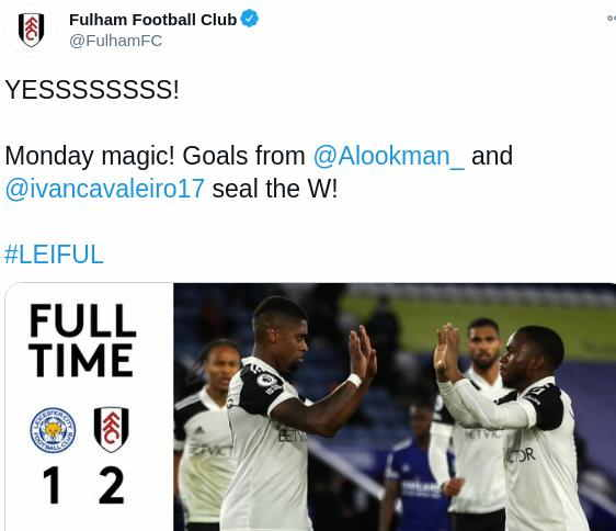 Leicester 1-2 Fulham