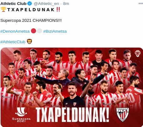 Ath Bilbao Juara Piala Super Spanyol