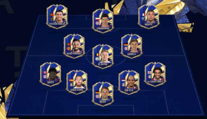 FIFA21 Rilis Team Of The Year (TOTY)