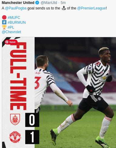 Hasil Burnley vs MU