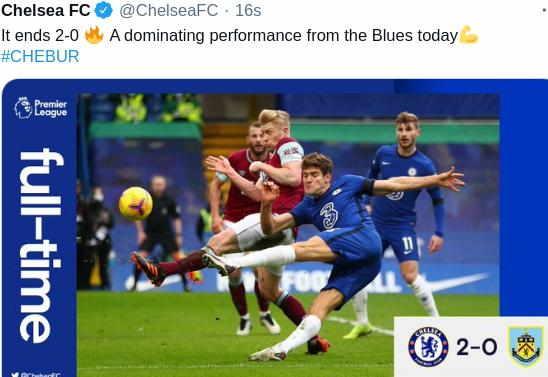 Hasil Chelsea vs Burnley