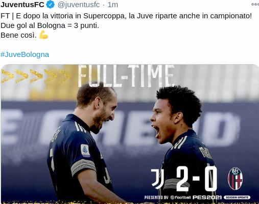 Hasil Juventus vs Bologna