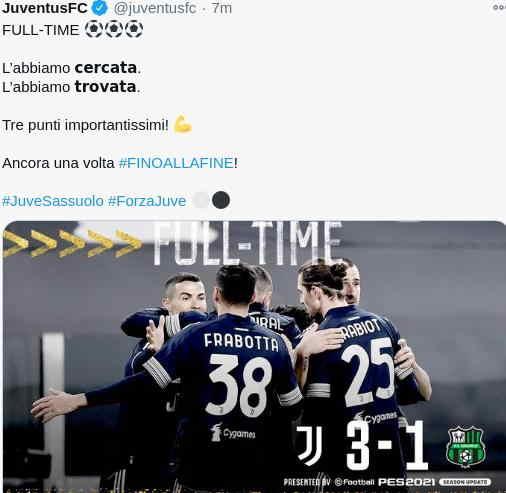 Hasil Juventus vs Sassuolo