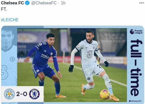 Hasil Leicester City vs Chelsea
