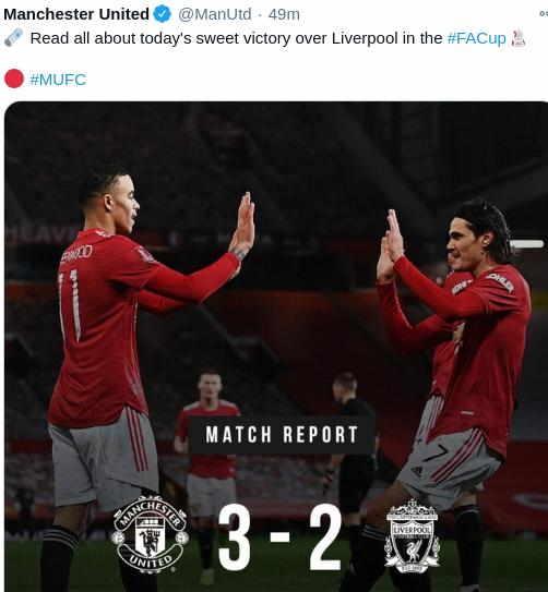 Hasil MU vs Liverpool FA Cup