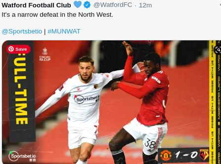 Hasil MU vs Watford FA Cup