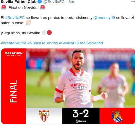 Hasil Sevilla vs Real Sociedad