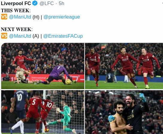 Jadwal MU vs Liverpool Bulan Ini