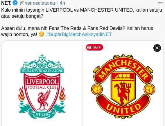 Pertandingan Liverpool vs Manchester United 17 Januari 2021 di Siarkan Net TV