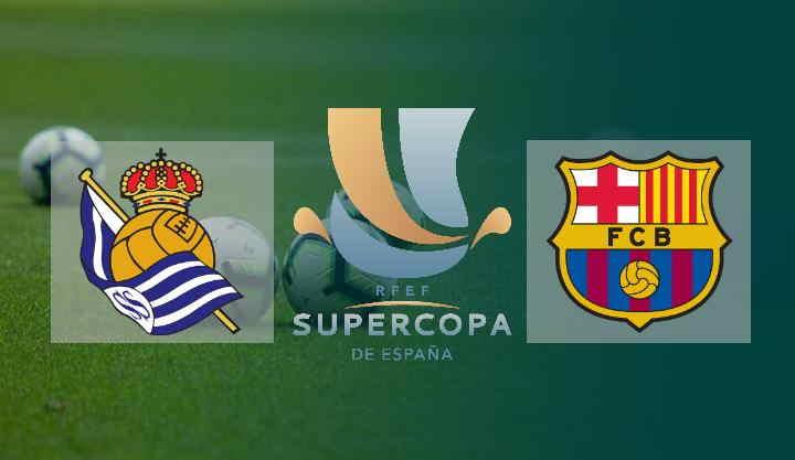 Hasi Piala Super Spanyol 2020/21 Real Sociedad vs Barcelona Semifinal Piala Super Spanyol