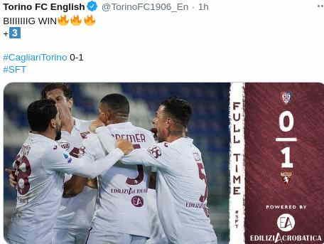 Cagliari vs Torino 0-1