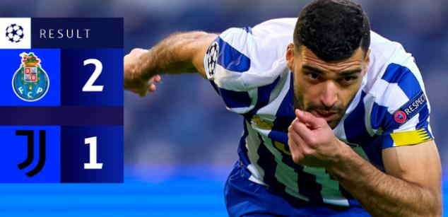 Hasil FC Porto vs Juventus Leg 1 UCL babak 16 besar