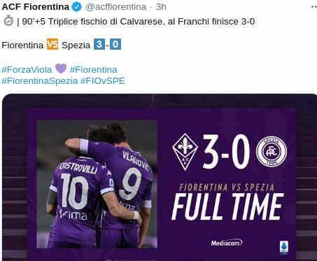 Fiorentina vs Spezia 3-0