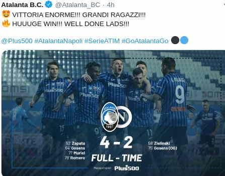 Hasil Atalanta vs Napoli 4-2