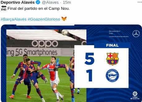 Hasil Barcelona vs Alaves 5-1