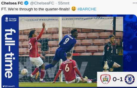 Hasil Barnsley vs Chelsea skor 0-1