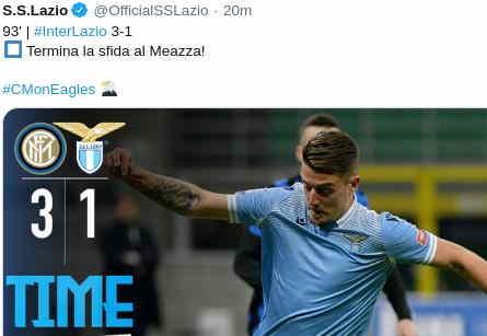 Hasil Inter Milan vs Lazio 3-1