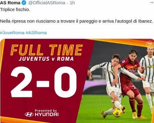 Hasil Juventus vs AS Roma