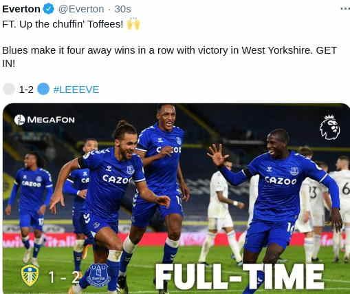 Hasil Leeds United vs Everton 4 Feb 2021