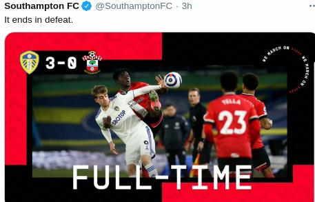 Hasil Leeds United vs Southampton