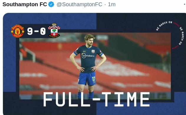 Hasil MU vs Southampton