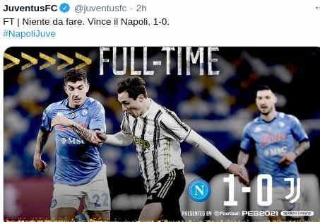 Hasil Napoli vs Juventus Skor 1-0