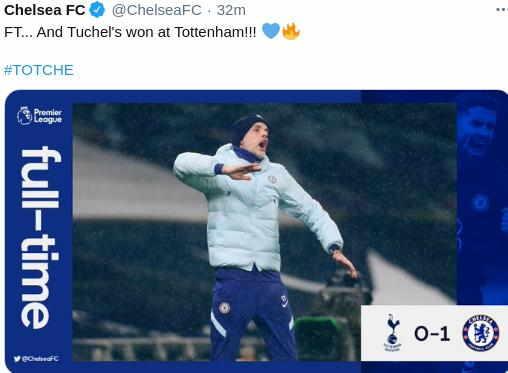 Hasil Tottenham vs Chelsea