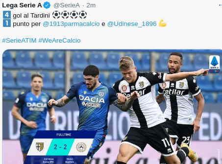 Parma vs Udinese 2-2