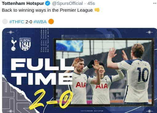 Tottenham vs West Brom 2-0