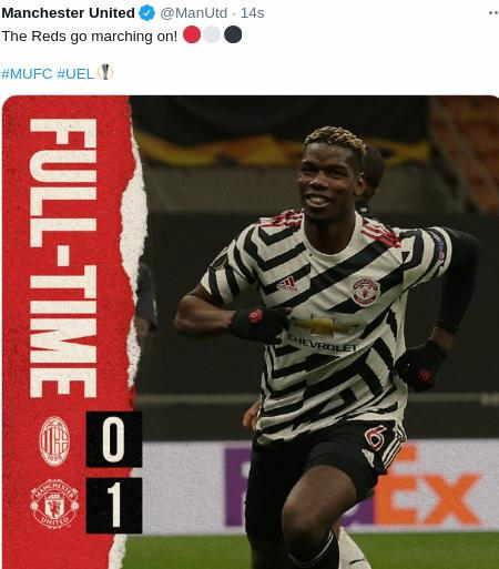 Hasil AC Milan vs MU Leg 2 Liga Europa