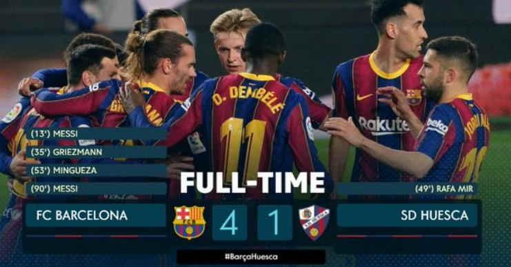 Hasil Barca vs Huesca 16 Maret 2021